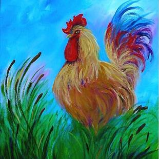 Art: Year of the Rooster by Artist Diane Funderburg Deam