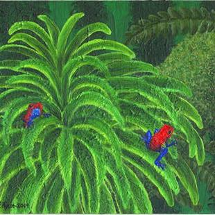 Art: Jungle Strawberries (SOLD) by Artist Jackie K. Hixon