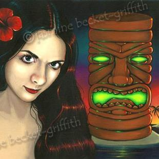 Art: Tiki Twilight by Artist Jasmine Ann Becket-Griffith