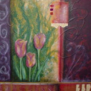Art: Tulips (SOLD) by Artist Vicky Helms