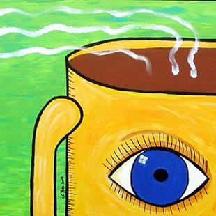 Art: First Cup of the Day: The Eye Opener by Artist Victor McGhee