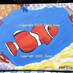 Art: My Coral Window by Artist Jenny Doss