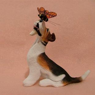 Art: Wire Fox Terrier & Bumble Bee by Artist Camille Meeker Turner
