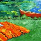 Art: Red Canoe by Artist April