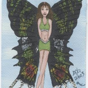 Art: Butterfly Fairy #4 madagascan sunset moth by Artist Sandi Gayle Stefkovich