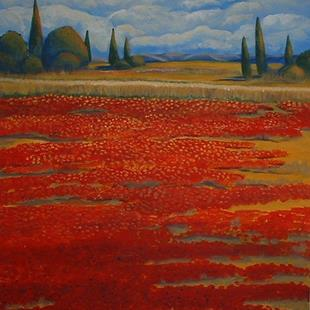 Art: Champ De Pavot by Artist Virginia Kilpatrick