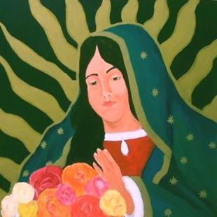 Art: Our Lady of Guadalupe by Artist Amie R Gillingham