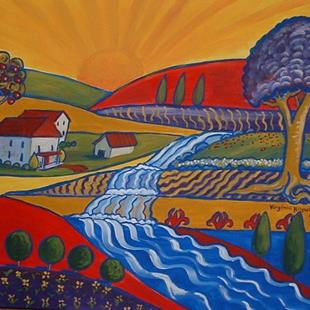 Art: Ferme Par Le Jet by Artist Virginia Kilpatrick