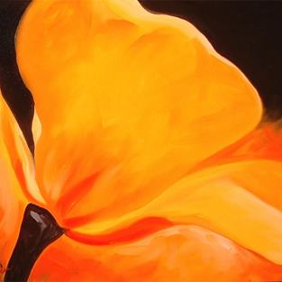 Art: Yellow Poppy Abstract by Artist Marcia Baldwin