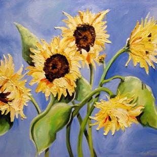 Art: Sunflower by Artist Laurie Justus Pace