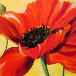 Art: April Poppy Red by Artist Laurie Justus Pace