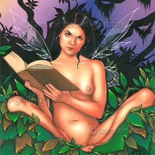 Art: Reading Mother Nature's Journal by Artist Jasmine Ann Becket-Griffith