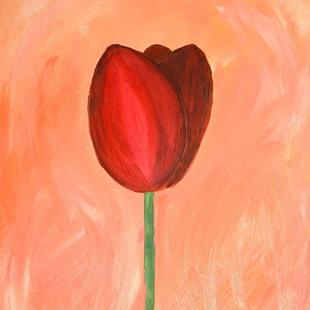 Art: Red Tulip (NFS) by Artist Julie Hollis