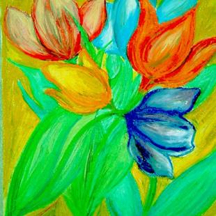 Art: Tulips Wake Up With Spring by Artist Chris Jeanguenat