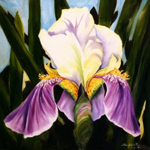 Art: Iris One   1st in the Series Backyard Bloom by Artist Laurie Justus Pace