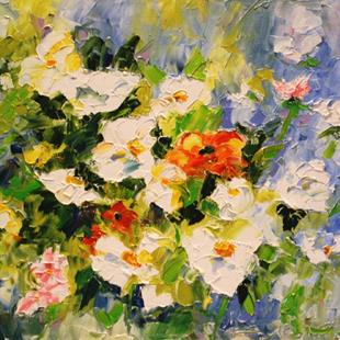 Art: Spring Showers Third in the Series of Backyard Blooms by Artist Laurie Justus Pace