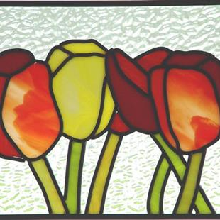 Art: April Tulips by Artist Dawn Lee Thompson