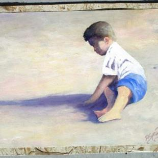 Art: Sunny Day in the Sand by Artist Deborah Sprague