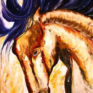 Art: Headstrong Part of Wild Horse Series by Artist Laurie Justus Pace