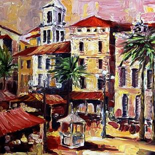 Art: South of France - SOLD by Artist Diane Millsap