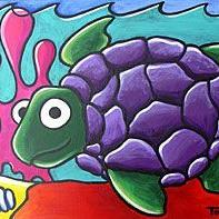 Art: Sea Turtle by Artist Tori Siegel