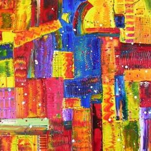 Art: FIESTA (SOLD) by Artist Dawn Hough Sebaugh
