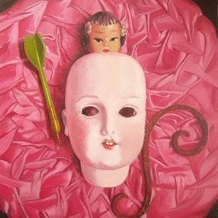 Art: STILL LIFE WITH DOLL FACE by Artist Lauren Cole Abrams