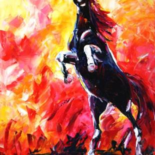 Art: SUNRISE    Wild Horse Series by Artist Laurie Justus Pace