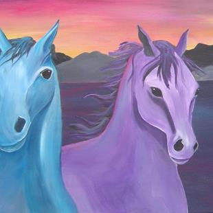 Art: Sunset Horses by Artist Padgett Mason