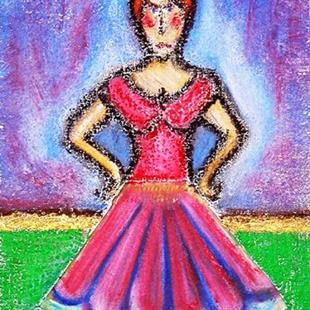 Art: Diary of a Mad Ballerina (in a coffee filter tutu!) by Artist Diane G. Casey