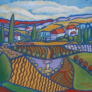 Art: Jardins De Village by Artist Virginia Kilpatrick