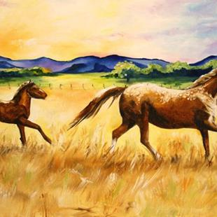 Art: Rocky Mountain Sunrise by Artist Laurie Justus Pace