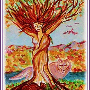 Art: Tree Goddess by Artist Karin Elizabeth Weiss