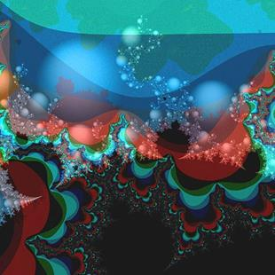 Art: Mandelbrot Sea by Artist Carolyn Schiffhouer