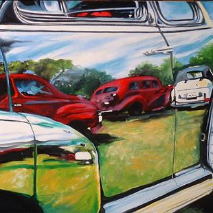 Art: Reflections On A Car Show by Artist Marcia Baldwin