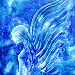 Art: BLUE ANGEL - sold by Artist Bonnie G Morrow