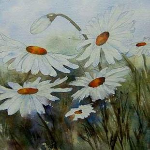 Art: Daisies by Artist Deborah Leger
