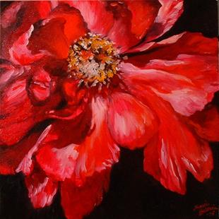 Art: Red Peony by Artist Marcia Baldwin