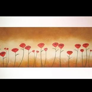 Art: Twenty One Poppies by Artist Charlene Murray Zatloukal