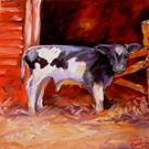 Art: A Little Cow with Heart by Artist Marcia Baldwin