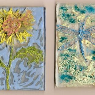 Art: Garden ATCs by Artist Deborah Sprague