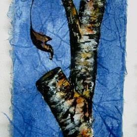 Art: Tree Branch aceo by Artist Deborah Leger