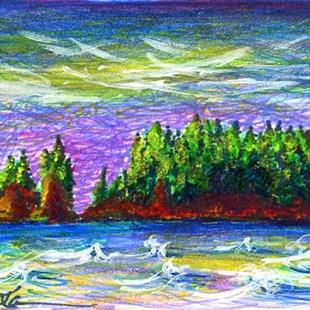 Art: Headlands at Rialto Beach, WA by Artist Christine Wasankari