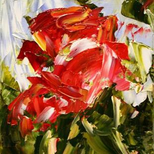 Art: Red Miniature Rose by Artist Laurie Justus Pace