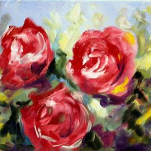 Art: Three Roses by Artist Laurie Justus Pace