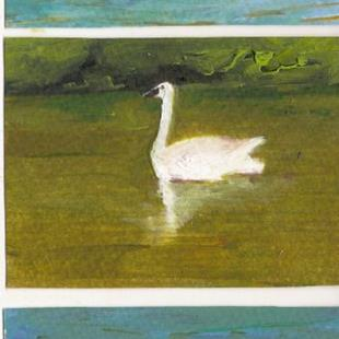 Art: Waterfowl on the Dechutes River by Artist Deborah Sprague