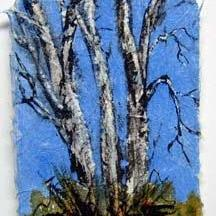 Art: Birch Tree Series, card 3 by Artist Deborah Leger