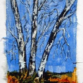 Art: Birch Tree Series, Card 5 by Artist Deborah Leger