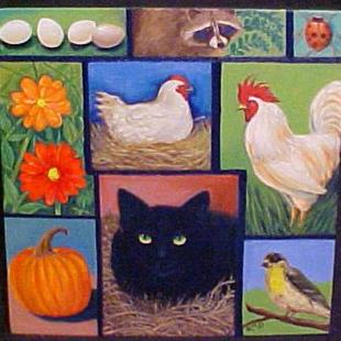 Art: On The Farm by Artist Rosemary Margaret Daunis
