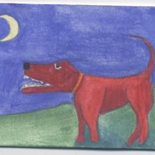 Art: Red Dog by Artist Jenny Doss